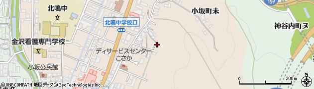 石川県金沢市小坂町(マ)周辺の地図