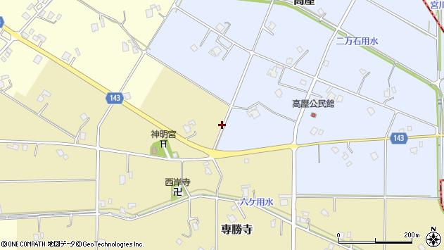〒932-0207 富山県南砺市専勝寺の地図