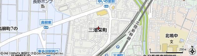 石川県金沢市三池栄町周辺の地図