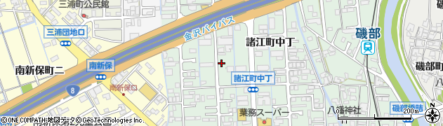 石川県金沢市諸江町(中丁)周辺の地図