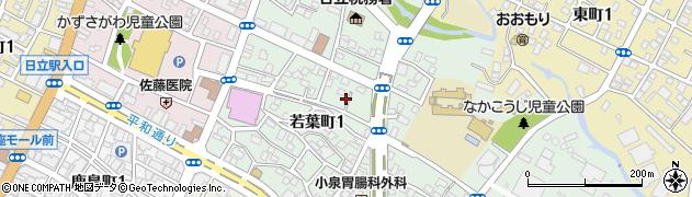 若葉美容室周辺の地図