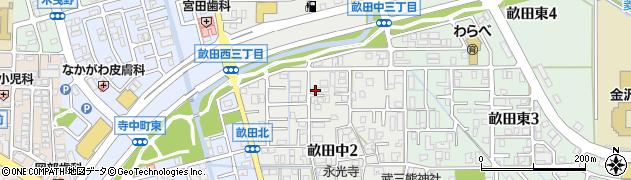 石川県金沢市畝田中周辺の地図