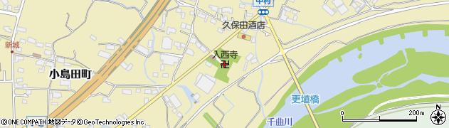 入西寺周辺の地図