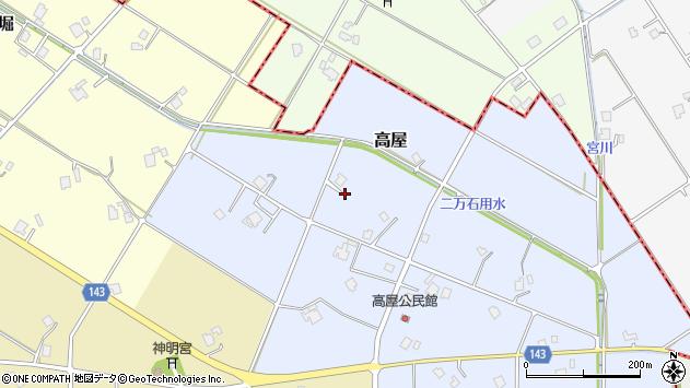 〒932-0201 富山県南砺市高屋の地図