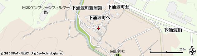 石川県金沢市下涌波町(ヘ)周辺の地図