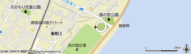 浜の宮らせん橋周辺の地図
