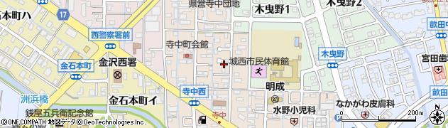 石川県金沢市寺中町(ヘ)周辺の地図