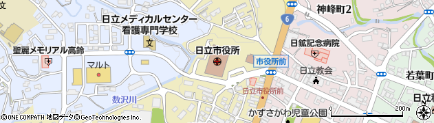 茨城県日立市周辺の地図