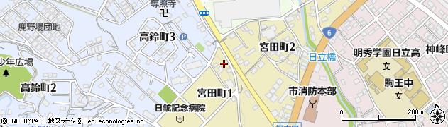 ヤナギ美容室周辺の地図
