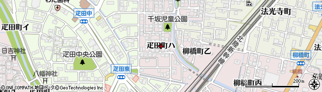 石川県金沢市疋田町周辺の地図