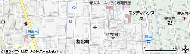 石川県金沢市割出町周辺の地図