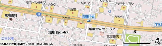 長野県長野市稲里町中央周辺の地図