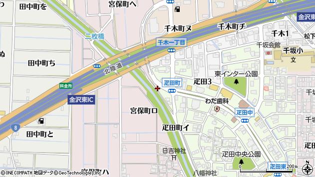 〒920-0004 石川県金沢市疋田町の地図