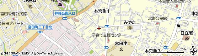 内田クリーニング店周辺の地図