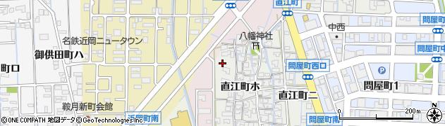 石川県金沢市直江町周辺の地図