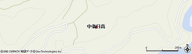 長野県長野市中条日高周辺の地図