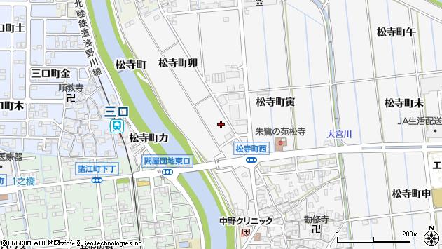 〒920-0011 石川県金沢市松寺町の地図