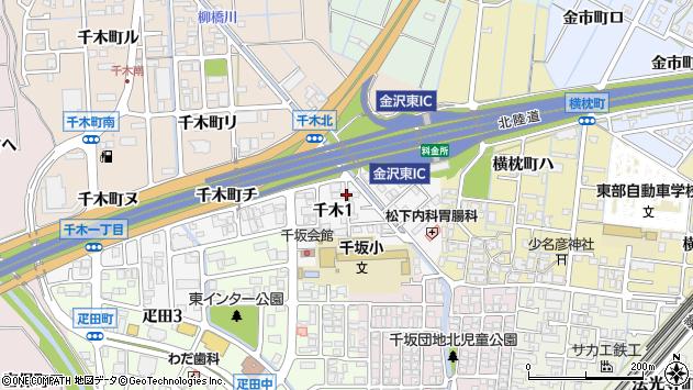 〒920-0002 石川県金沢市千木の地図