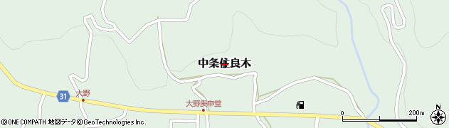 長野県長野市中条住良木周辺の地図