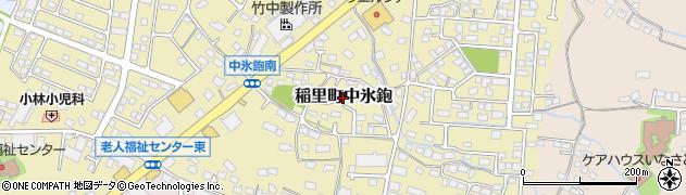 長野県長野市稲里町中氷鉋周辺の地図