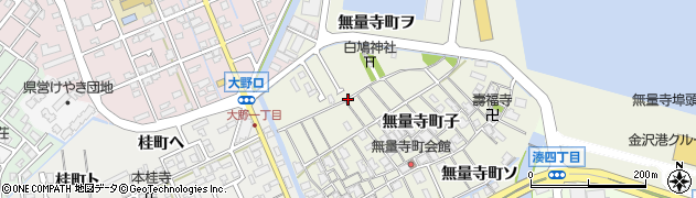 石川県金沢市無量寺町(ナ)周辺の地図