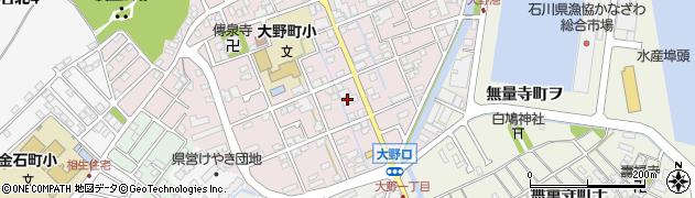 石川県金沢市大野町(4丁目ワ)周辺の地図