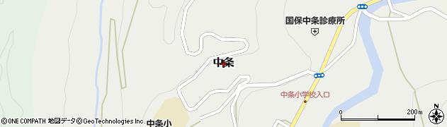 長野県長野市中条周辺の地図
