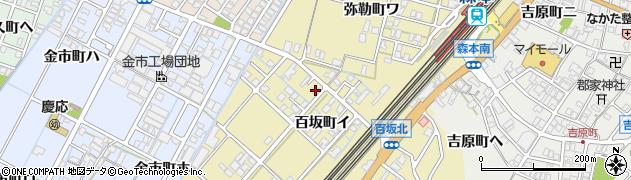 石川県金沢市百坂町(イ)周辺の地図