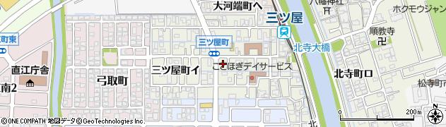 石川県金沢市三ツ屋町周辺の地図