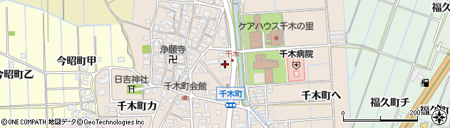 石川県金沢市千木町(ワ)周辺の地図