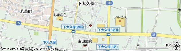 富山県富山市下大久保周辺の地図