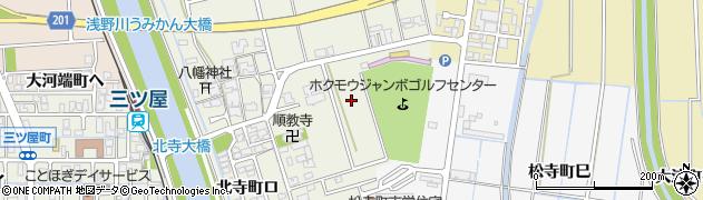 石川県金沢市北寺町周辺の地図