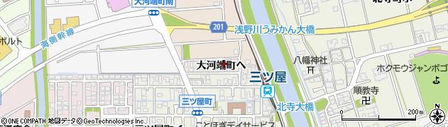 石川県金沢市大河端町(ヘ)周辺の地図