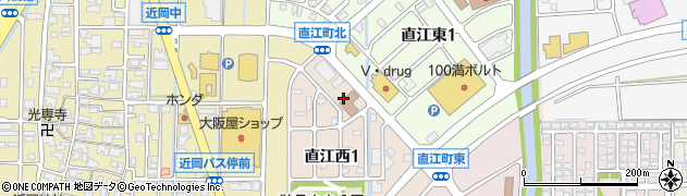 石川県金沢市直江町(リ)周辺の地図