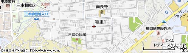 長野県長野市稲里周辺の地図