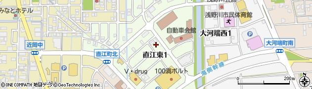石川県金沢市直江東周辺の地図