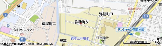 石川県金沢市弥勒町(タ)周辺の地図