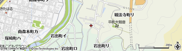 石川県金沢市観法寺町(リ)周辺の地図