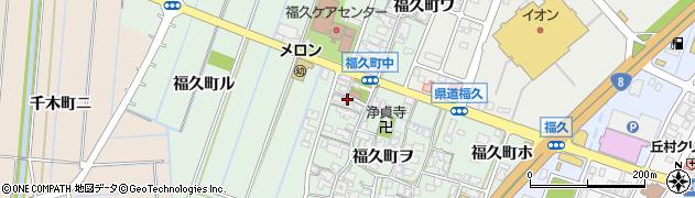 石川県金沢市福久町周辺の地図