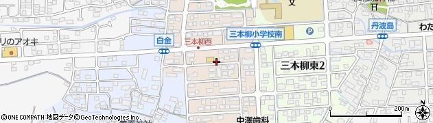 長野県長野市三本柳西周辺の地図