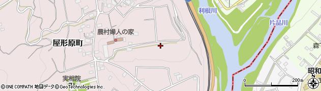 群馬県沼田市屋形原町周辺の地図