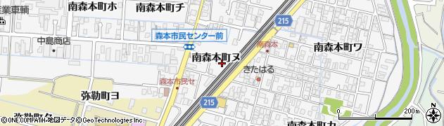 石川県金沢市南森本町(ヌ)周辺の地図