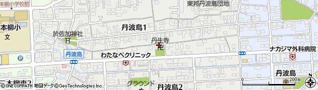 丹生寺周辺の地図
