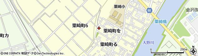 石川県金沢市粟崎町(ヲ)周辺の地図