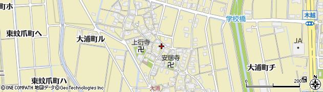 石川県金沢市大浦町周辺の地図