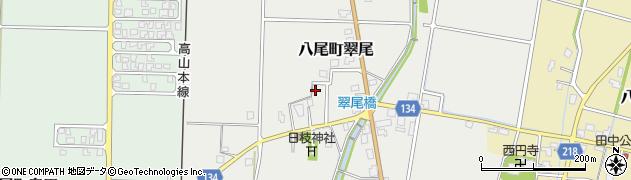 富山県富山市八尾町翠尾周辺の地図