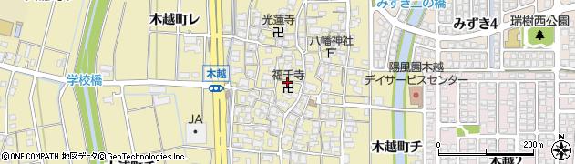 石川県金沢市木越町周辺の地図