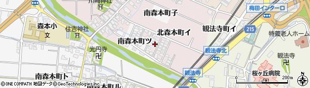 石川県金沢市北森本町(イ)周辺の地図