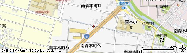 石川県金沢市南森本町(ヘ)周辺の地図