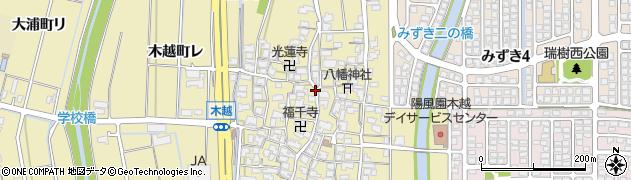 石川県金沢市木越町(タ)周辺の地図